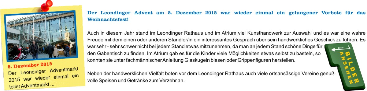 Leondinger Adventmarkt