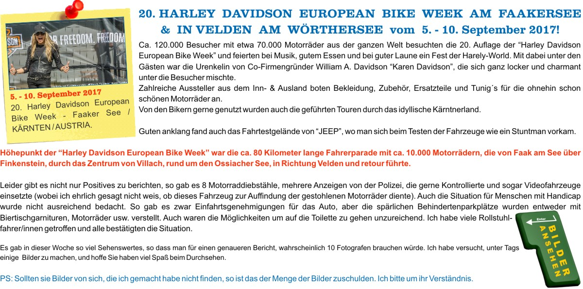 2017.09.05-10 20. Harley Davidson European Bike Week