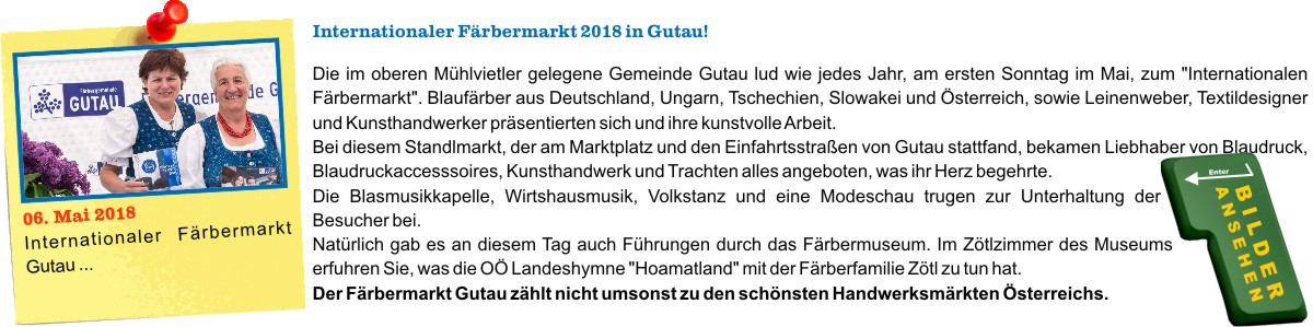 Internationaler Färbermarkt 2018 in Gutau